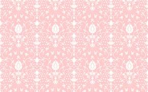 Картинка цветы, текстура, орнамент, розовый фон