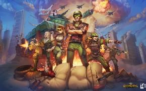 Картинка оружие, команда, воины, знамя, Under Control