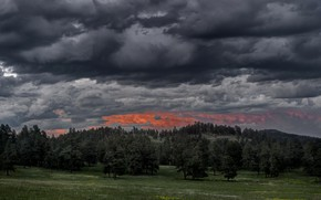 Картинка закат, природа, вечер