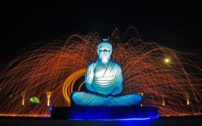 Картинка Индия, Чандигарх, Сад Тишины, статуя Будды