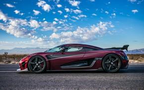 Картинка машина, небо, Koenigsegg, гиперкар, насыщенный цвет, Agera RS