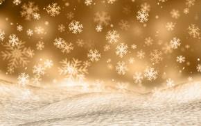Картинка зима, снег, снежинки, фон, Christmas, winter, background, snow, snowflakes