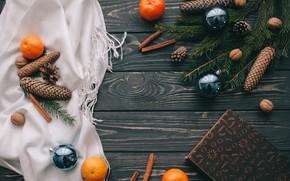 Обои украшения, шары, Новый Год, Рождество, Christmas, balls, wood, New Year, decoration, Merry