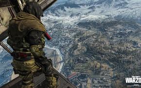 Картинка город, солдат, Call of Duty, вид сверху, в самолёте, Call of Duty: Warzone