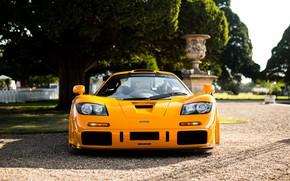 Картинка жёлтый, гиперкар, McLaren F1 LM, F1 LM