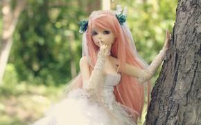 Картинка девушка, волосы, кукла, платье