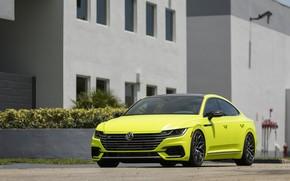 Картинка Volkswagen, вид спереди, 2018, Vossen, R-Line, Arteon, Highlight Concept