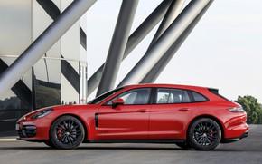 Картинка Porsche, Panamera, вид сбоку, универсал, 2021, Panamera GTS Sport Turismo