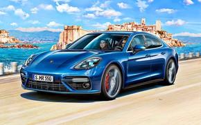 Картинка Porsche, Германия, Panamera, Арт, Turbo, Гран Туризмо