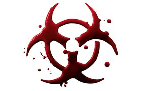 Картинка Красный, Минимализм, Белый, Кровь, Биологическая опасность