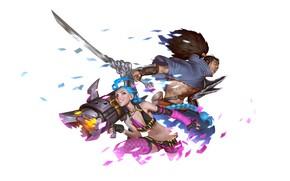 Картинка Jinx, Yasuo, Legends of Runeterra