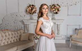 Картинка девушка, платье, красавица, невеста, Игорь Кондуков