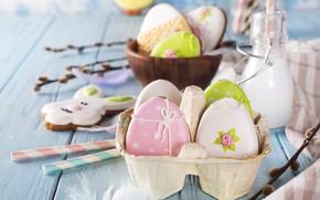 Картинка праздник, пасха, Easter, композиция, Eggs, Myfoodie
