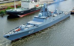 Картинка фрегат, буксировка, Адмирал Касатонов