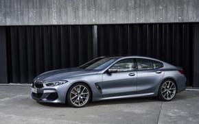 Картинка купе, BMW, стоянка, Gran Coupe, 8-Series, 2019, четырёхдверное купе, 8er, G16, серо-стальной