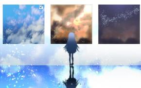 Картинка небо, девушка, картины