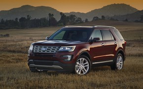 Картинка Ford, SUV, Explorer, 2016, на лугу
