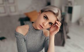 Картинка поза, Девушка, плечи, Саша Руских, Регина Сергеева