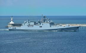 Картинка корабль, фрегат, сторожевой, проект 11356, адмирал эссен