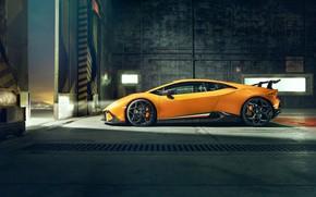 Картинка Lamborghini, вид сбоку, 2018, Performante, Novitec, Huracan