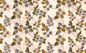 Картинка листья, фон, веточки