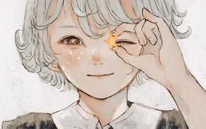Картинка звезда, мальчик, белые волосы
