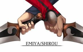 Картинка руки, Эмия Широ, Судьба ночь схватки, Fate / Stay Night