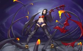 Картинка девушка, поза, оружие