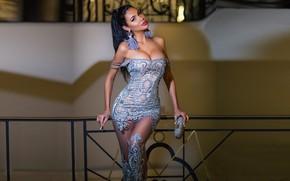 Картинка стиль, модель, платье, красавица, дизайнер, Олеся Малинская