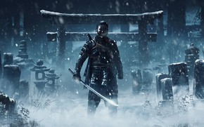 Картинка PlayStation 4, Sucker Punch Productions, Jin, Sony Interactive Entertainment, Ghost of Tsushima