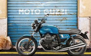 Картинка moto, special, garage door, guzzi, v7 III