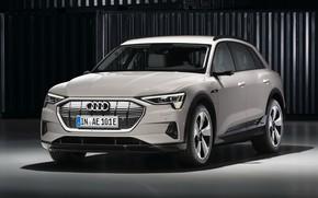 Картинка Audi, кроссовер, E-Tron, 2019, электрокроссовер