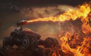 Картинка Огонь, Пламя, Fire, Blizzard, Flame, Terran, Starcraft, Battlecruiser, Hellion, Game Art, Терраны, Transport, Starcraft Hellion, …