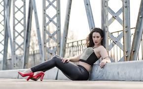 Картинка девушка, мост, Marta
