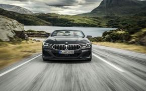 Картинка BMW, кабриолет, вид спереди, xDrive, G14, 8-series, 2019, 8er, M850i Convertible