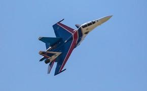 Обои пилотажная группа, многоцелевой истребитель, Су-30СМ, Su-30SM, «Русские Витязи»