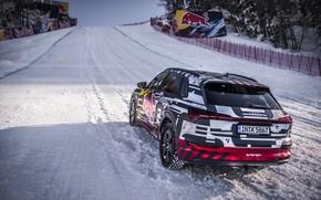 Картинка снег, Audi, Quattro, уклон, E-Tron, 2019