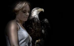 Картинка птица, человек, орёл