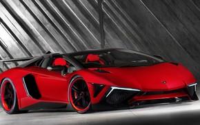 Картинка Красный, Авто, Lamborghini, Машина, Red, Car, Суперкар, Aventador, Lamborghini Aventador, Спорткар, Transport & Vehicles, by …