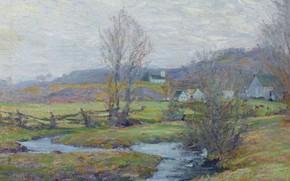 Картинка пейзаж, Early Spring. Pleasant Valley. Connecticut, Роберт Уильям Воннох, Robert William Vonnoh, 1916-17
