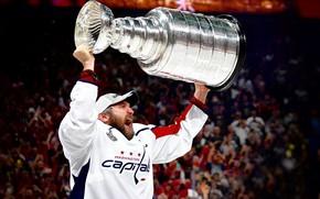 Картинка Игра, Спорт, Вашингтон, Лёд, Washington, 2018, Александр Овечкин, NHL, НХЛ, Washington Capitals, Овечкин, Cup, Гол, …