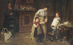 Картинка 1875, датская художница-портретистка, New friends, Берта Вегманн, Bertha Wegmann, Новые друзья, Danish portrait painter