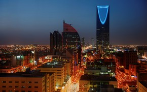 Картинка ночь, огни, Саудовская Аравия, Эр-Рияд