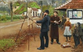 Картинка 1893, датский живописец, Danish realist painter, Ханс Андерсен Брендекильде, Hans Andersen Brendekilde, Художник Лауриц Андерсен ...