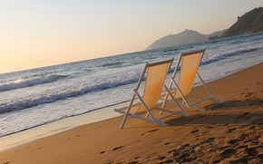 Картинка море, пляж, берег, утро