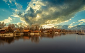 Картинка Sky, Lake, Diessen am Ammersee