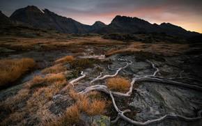 Картинка природа, Sunrise, Plan du lac