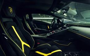 Картинка Lamborghini, суперкар, салон, Aventador, Novitec, SVJ, 2019, Aventador SVJ