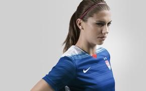 Картинка woman, usa, soccer, player, alex morgan