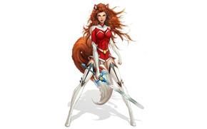 Картинка девушка, меч, форма, комиксы